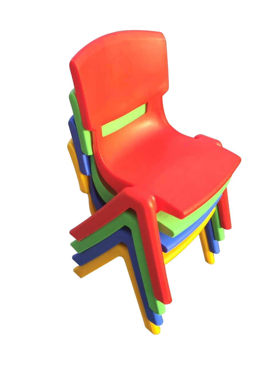 SET OF 4 COLOURED CHILDRENS CHAIRS FOR CHILDRENS TABLE HOLDS UP TO 100KG