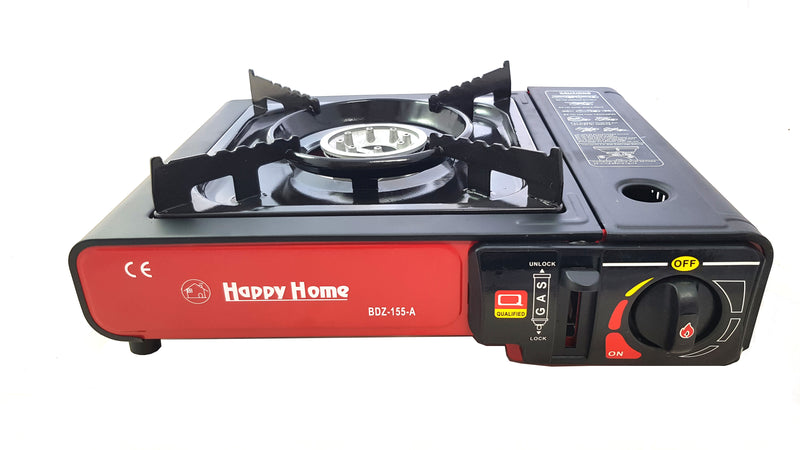 Camping Portable Gas Burner Butane Stove Cooker Heavy Duty Case Red HW360