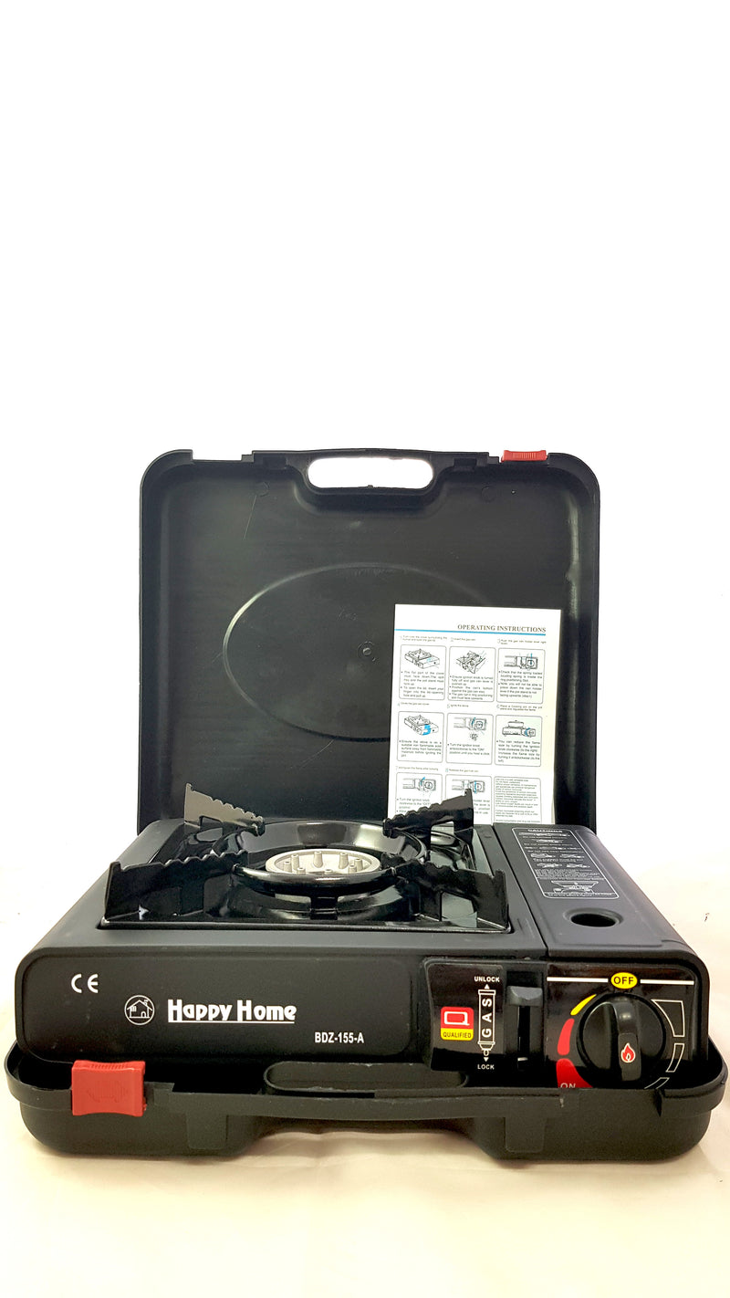 Camping Portable Gas Burner Butane Stove Cooker Heavy Duty Case Black HW361