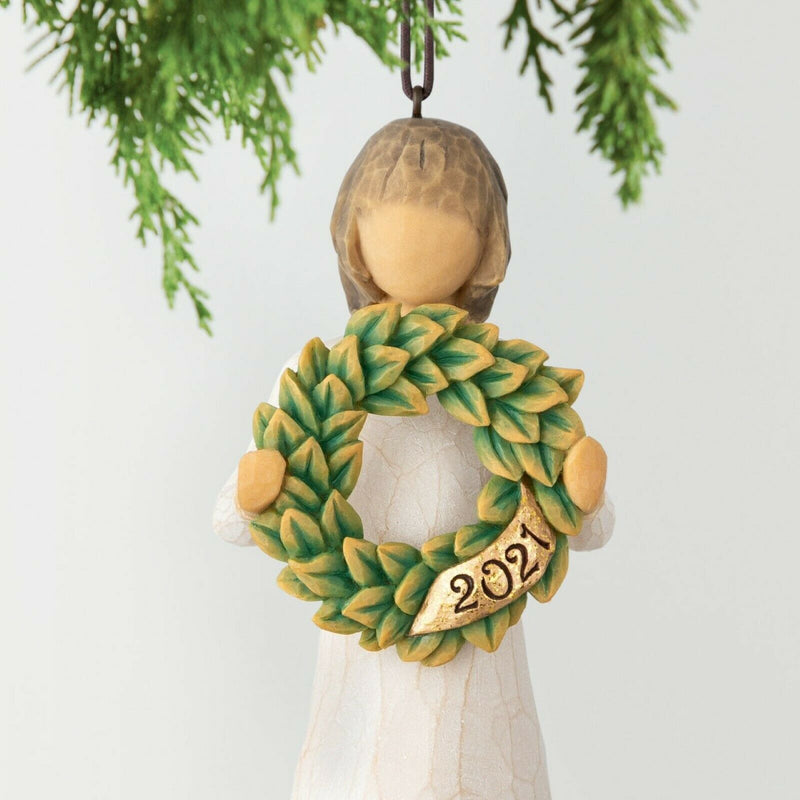 2021 HANGING ORNAMENT Willow Tree Demdaco Figurine By Susan Lordi Brand New 28043