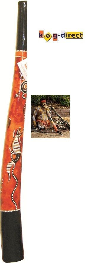 DIDGERIDOO HARDWOOD 120CM ABORIGINAL STYLE BEAUTIFULLY HAND PAINTED NEW OY