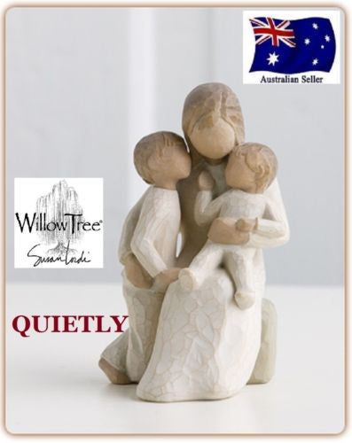 QUIETLY Demdaco Willow Tree Figurine By Susan Lordi BRAND NEW IN BOX