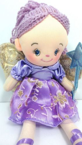 CUTE AZZ COLLECTABLE FAIRY RAG DOLL PURPLE RAGDOLL 35 CM TALL HW-76