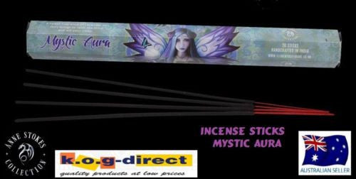 ANNE STOKES BOX OF 20 INCENSE STICKS MYSTIC AURA LAVENDER SCENTED