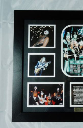 KISS MEMORABILIA LIMITED EDITION WITH CERTIFICATE FRAMED & GLASS