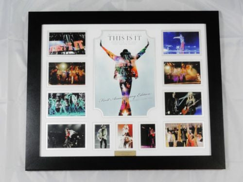MICHAEL JACKSON  MEMORABILIA LIMITED EDITION WITH CERTIFICATE FRAMED & GLASS