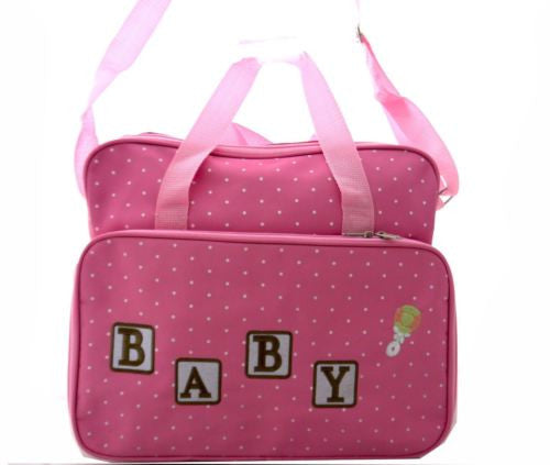 TRENDY BABY DIAPER TOTE NAPPY BAG WITH CHANGE MAT PINK HW196