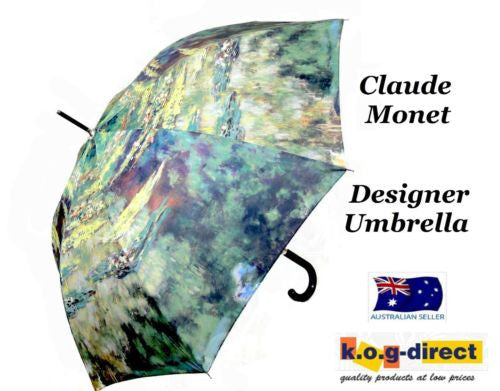 CLAUDE MONET WATER LILY POND AUTOMATIC OPENING 100CM DIAMETER UMBRELLA HW-69