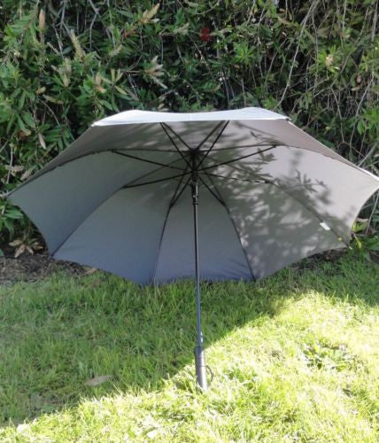 CLASSIC GREY UMBRELLA 100CM DIAMETER AUTOMATIC OPEN