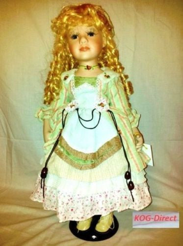 Porcelain Doll  Stephanie 55cm tall by ADORABELLA Ltd Edition with Certificate