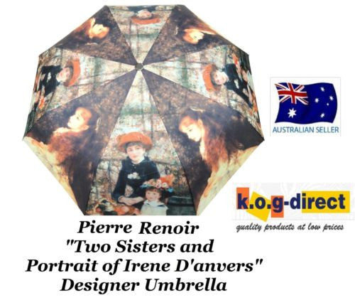 RENIOR TWO SISTERS IRENE DANVERS AUTOMATIC OPEN COMPACT FOLDING UMBRELLA HW-70