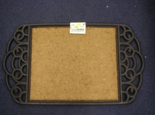 DOOR MAT CLASSIC STYLE NATURAL COIR WITH RUBBER DECORATIVE SIDES DOORMAT