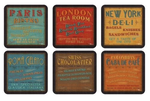 Pimpernel LUNCHTIME Set of  6 Coasters