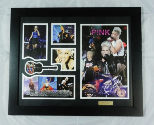 PINK MEMORABILIA LIMITED EDITION WITH CERTIFICATE FRAMED & GLASS