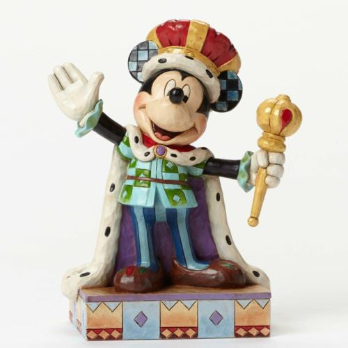 DISNEY SHOWCASE TRADITIONS JIM SHORE MICKEY MOUSE KING FOR A DAY FIGURINE NEW