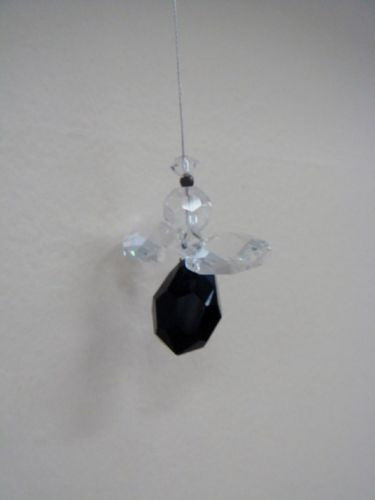 NYMBOIDA CRYSTALS HANGING 15MM CRYSTAL ANGEL BLACK