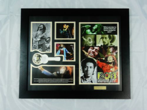 BOB MARLEY MEMORABILIA LIMITED EDITION WITH CERTIFICATE FRAMED & GLASS