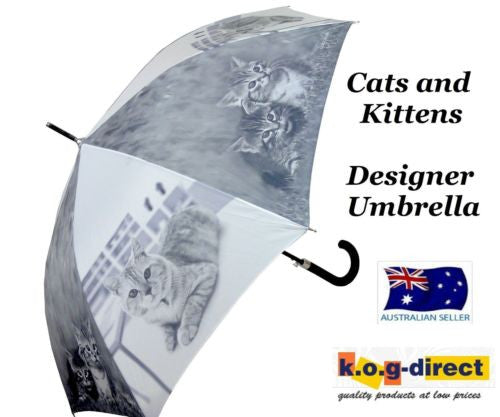 CAT AND KITTEN AUTOMATIC OPENING 100CM DIAMETER UMBRELLA HW-71E