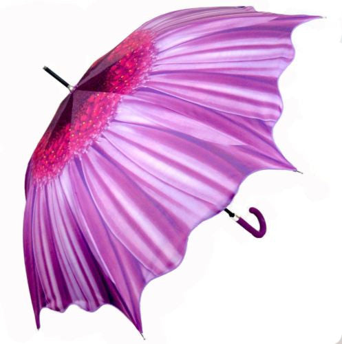 PURPLE GERBERA FLOWER AUTOMATIC OPENING 100CM DIAMETER UMBRELLA HW-72