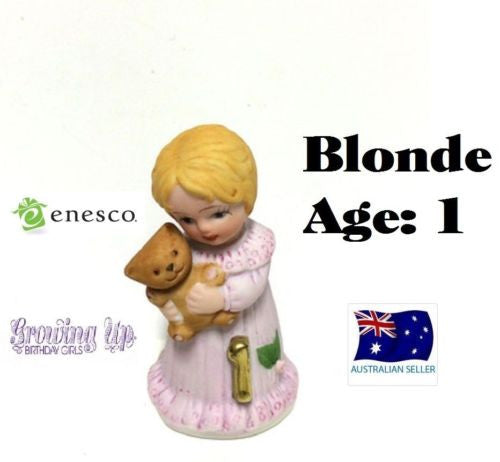 ENESCO GROWING UP GIRLS FIGURINE AGE 1 BLONDE BRAND NEW IN BOX