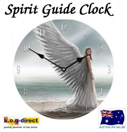 ORIGINAL ANNE STOKES WALL CLOCK SPIRIT GUIDE NEW IN BOX 18CM