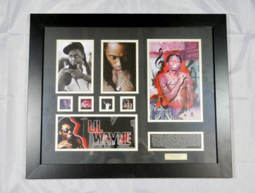 LIL WAYNE CD MEMORABILIA LIMITED EDITION WITH CERTIFICATE FRAMED & GLASS