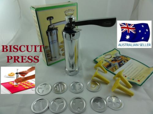 14 PCS BISCUIT PRESS COOKIE BISCUIT CUTTER WITH CUTTERS & MOUNTED FLOWER NOZZLES