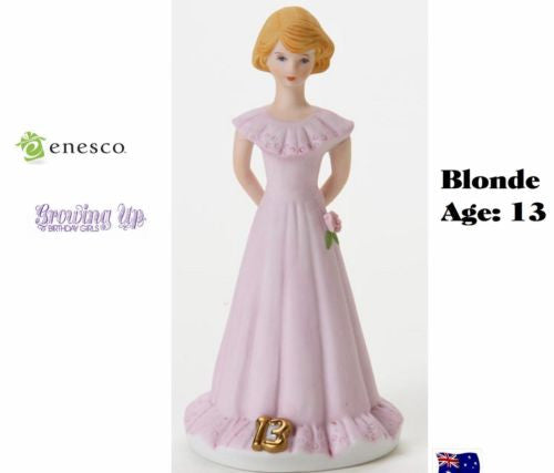 ENESCO GROWING UP GIRLS FIGURINE AGE 13 BLONDE BRAND NEW IN BOX