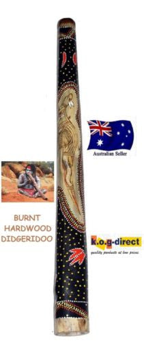 DIDGERIDOO BURNT HARDWOOD 90CM ABORIGINAL BEAUTIFULLY HAND PAINTED NEW ORG