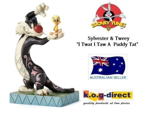 JIM SHORE LOONEY TUNES COLLECTION SYLVESTER AND TWEETY I TWAT I TAW A PUDDY CAT