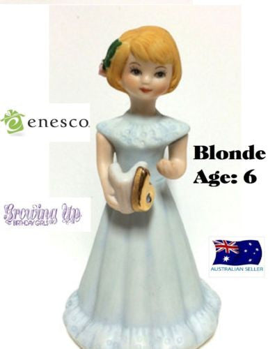 ENESCO GROWING UP GIRLS FIGURINE AGE 6 BLONDE BRAND NEW IN BOX