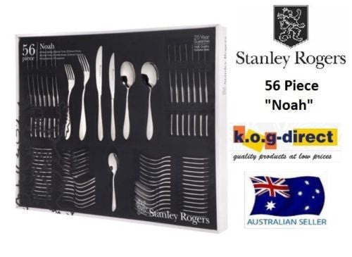 STANLEY ROGERS NOAH 56 Piece Cutlery Set Stainless Steel 25 Year Guarantee