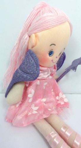 CUTE AZZ COLLECTABLE FAIRY RAG DOLL LIGHT PINK RAGDOLL 35 CM TALL HW-76