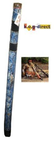 DIDGERIDOO HARDWOOD UP TO 120CM ABORIGINAL STYLE BEAUTIFULLY HAND PAINTED NEW BL