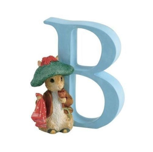 BEATRIX POTTER PETER RABBIT ALPHABET FIGURINE BENJAMIN BUNNY INITIAL LETTER B