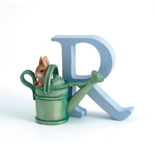 BEATRIX POTTER PETER RABBIT ALPHABET PETER RABBIT IN WATER CAN INITIAL LETTER R