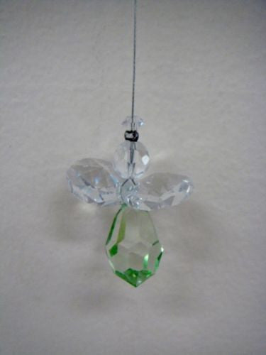 NYMBOIDA CRYSTALS HANGING 15MM CRYSTAL ANGEL LIGHT GREEN
