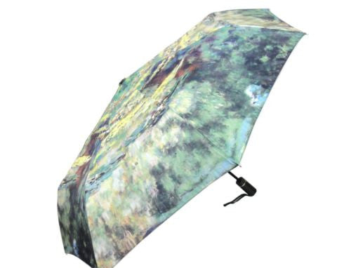 CLAUDE MONET WATER LILY POND AUTOMATIC OPEN CLOSE FOLDING UMBRELLA HW-70