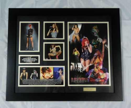 RIHANNA MEMORABILIA LIMITED EDITION WITH CERTIFICATE FRAMED & GLASS
