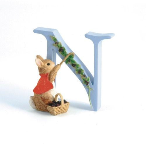 BEATRIX POTTER PETER RABBIT ALPHABET FIGURINE COTTON TAIL INITIAL LETTER N