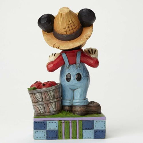 DISNEY TRADITIONS JIM SHORE FARMER MICKEY MOUSE FRESH FROM THE FARM FIGURINE NEW