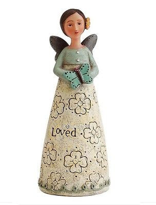 KELLY RAE ROBERTS COLLECTION BIRTHDAY WISH ANGEL FIGURINE - OCTOBER BIRTHSTONE