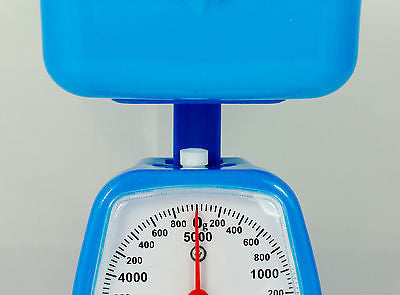 RETRO KITCHEN SCALE BLUE WITH SQUARE TRAY CAPACITY 5KG