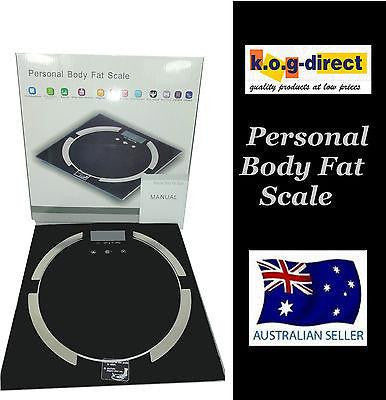 BLACK ELECTRONIC DIGITAL GLASS BATHROOM BODY FAT SCALE UP TO 180KG HW7