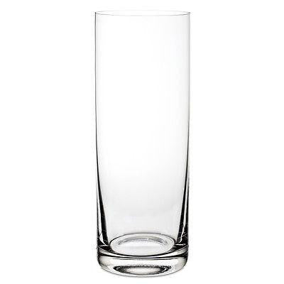 RONA INSPIRATION CYLINDER GLASS VASE MADE IN EUROPE 30CM