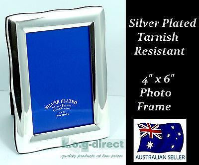 PHOTO FRAME SILVER PLATED TARNISH RESISTANT PHOTO SIZE 4 X 6 INCH