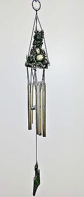 WIND CHIME GUARDIAN BRONZE COLOURED DRAGON WITH GOLD METAL TUBES