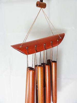 WIND CHIME TRADITIONAL BAMBOO WITH 8 BAMBOO TUBES SPOUT DESIGN W 23