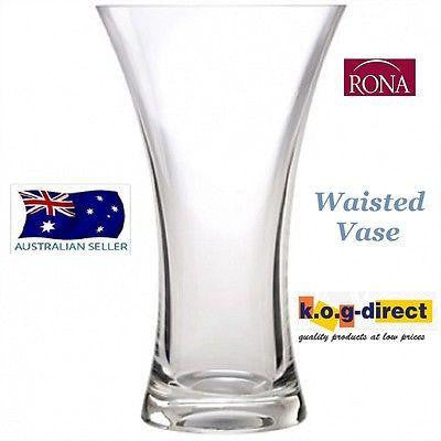 RONA INSPIRATION WAISTED GLASS VASE MADE IN EUROPE 16CM