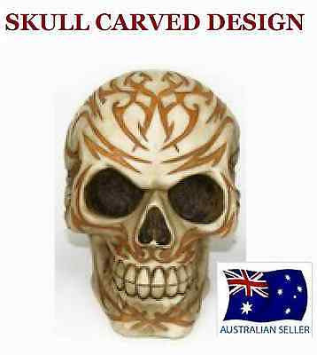 GOTHIC SKULL HEAD ORNAMENT CARVED DESIGN INTRICATE DETAIL FANTASY NEW SKULL HEAD